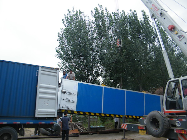 drying tunnel container loading
