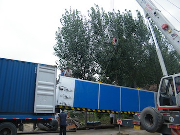 Multiple dryer container loading